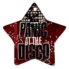 Panic At The Disco Poster Ornament (star)  by Onesevenart