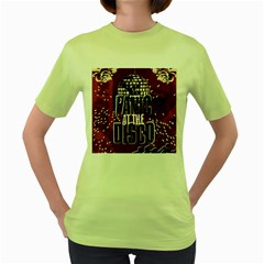 Panic At The Disco Poster Women s Green T Shirt by Onesevenart