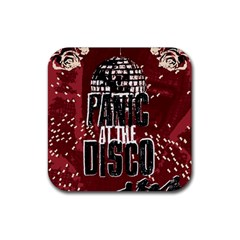 Panic At The Disco Poster Rubber Coaster (square)  by Onesevenart