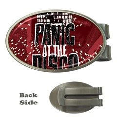 Panic At The Disco Poster Money Clips (oval)  by Onesevenart