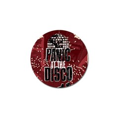 Panic At The Disco Poster Golf Ball Marker by Onesevenart