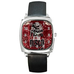 Panic At The Disco Poster Square Metal Watch by Onesevenart