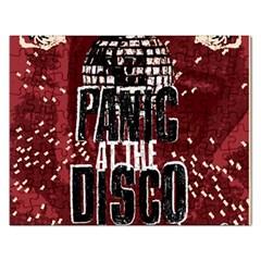 Panic At The Disco Poster Rectangular Jigsaw Puzzl by Onesevenart