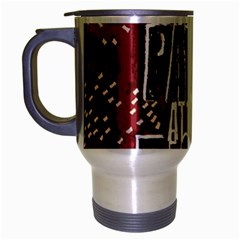 Panic At The Disco Poster Travel Mug (silver Gray) by Onesevenart