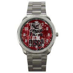 Panic At The Disco Poster Sport Metal Watch by Onesevenart