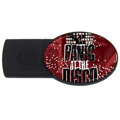 Panic At The Disco Poster Usb Flash Drive Oval (4 Gb)  by Onesevenart