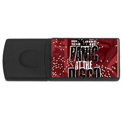 Panic At The Disco Poster Usb Flash Drive Rectangular (4 Gb)  by Onesevenart