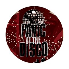 Panic At The Disco Poster Round Ornament (two Sides)  by Onesevenart