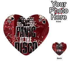 Panic At The Disco Poster Playing Cards 54 (heart)  by Onesevenart