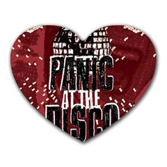 Panic At The Disco Poster Heart Mousepads by Onesevenart