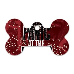 Panic At The Disco Poster Dog Tag Bone (two Sides) by Onesevenart
