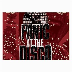 Panic At The Disco Poster Large Glasses Cloth by Onesevenart