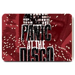 Panic At The Disco Poster Large Doormat  by Onesevenart
