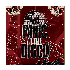 Panic At The Disco Poster Face Towel by Onesevenart