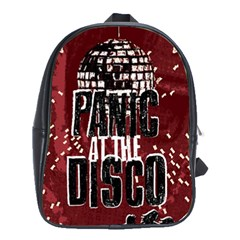 Panic At The Disco Poster School Bags(large)  by Onesevenart