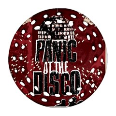 Panic At The Disco Poster Round Filigree Ornament (2side) by Onesevenart