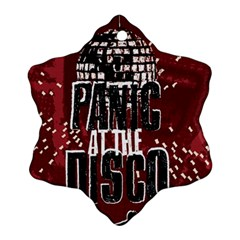 Panic At The Disco Poster Snowflake Ornament (2 Side) by Onesevenart