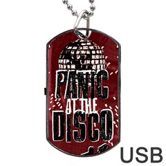Panic At The Disco Poster Dog Tag Usb Flash (two Sides)  by Onesevenart