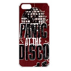 Panic At The Disco Poster Apple Iphone 5 Seamless Case (white) by Onesevenart