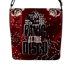 Panic At The Disco Poster Flap Messenger Bag (l)  by Onesevenart