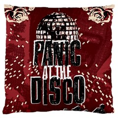 Panic At The Disco Poster Large Flano Cushion Case (one Side) by Onesevenart
