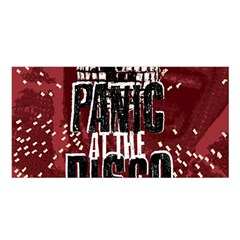 Panic At The Disco Poster Satin Shawl by Onesevenart