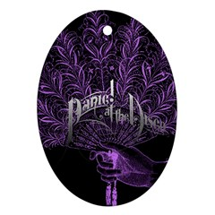 Panic At The Disco Oval Ornament (two Sides) by Onesevenart