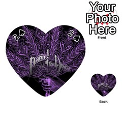 Panic At The Disco Playing Cards 54 (heart)  by Onesevenart