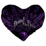 Panic At The Disco Large 19  Premium Flano Heart Shape Cushions