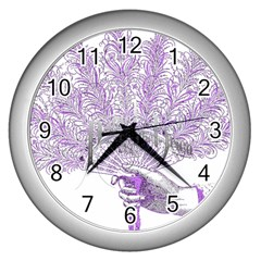Panic At The Disco Wall Clocks (silver)  by Onesevenart