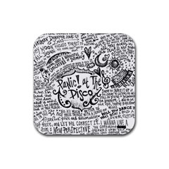 Panic! At The Disco Lyric Quotes Rubber Coaster (square)  by Onesevenart
