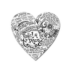 Panic! At The Disco Lyric Quotes Heart Magnet by Onesevenart