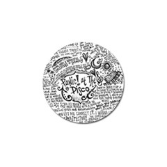 Panic! At The Disco Lyric Quotes Golf Ball Marker by Onesevenart