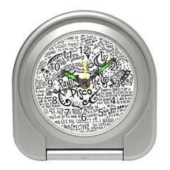 Panic! At The Disco Lyric Quotes Travel Alarm Clocks by Onesevenart