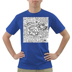 Panic! At The Disco Lyric Quotes Dark T Shirt by Onesevenart