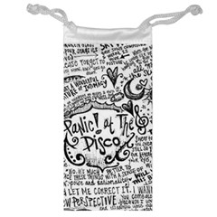 Panic! At The Disco Lyric Quotes Jewelry Bags by Onesevenart