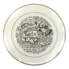 Panic! At The Disco Lyric Quotes Porcelain Plates by Onesevenart