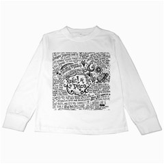 Panic! At The Disco Lyric Quotes Kids Long Sleeve T Shirts by Onesevenart