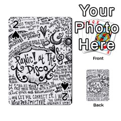 Panic! At The Disco Lyric Quotes Playing Cards 54 Designs  by Onesevenart