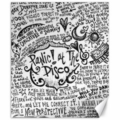 Panic! At The Disco Lyric Quotes Canvas 20  X 24   by Onesevenart