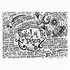 Panic! At The Disco Lyric Quotes Large Glasses Cloth (2 Side) by Onesevenart