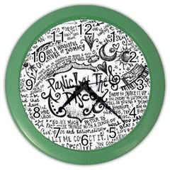 Panic! At The Disco Lyric Quotes Color Wall Clocks by Onesevenart