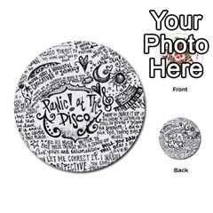 Panic! At The Disco Lyric Quotes Multi Purpose Cards (round)  by Onesevenart