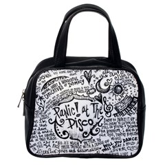 Panic! At The Disco Lyric Quotes Classic Handbags (one Side) by Onesevenart