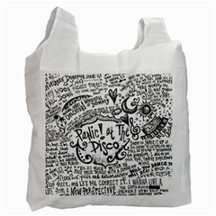 Panic! At The Disco Lyric Quotes Recycle Bag (two Side)  by Onesevenart