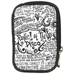 Panic! At The Disco Lyric Quotes Compact Camera Cases by Onesevenart