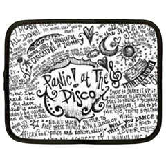 Panic! At The Disco Lyric Quotes Netbook Case (xxl)  by Onesevenart