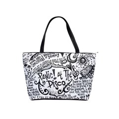 Panic! At The Disco Lyric Quotes Shoulder Handbags by Onesevenart