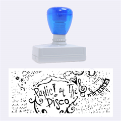 Panic! At The Disco Lyric Quotes Rubber Stamps (large) by Onesevenart