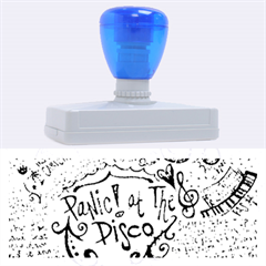 Panic! At The Disco Lyric Quotes Rubber Address Stamps (xl) by Onesevenart